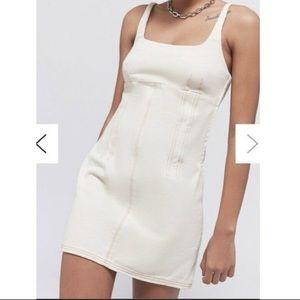 Mini White Denim Dress